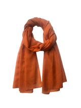 Cashmere Cloud Shawl 100 Cashmere Rust Loose Tie