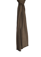 Chouni Stole Hang 100 Cashmere Black Dark Khaki Brown Hang