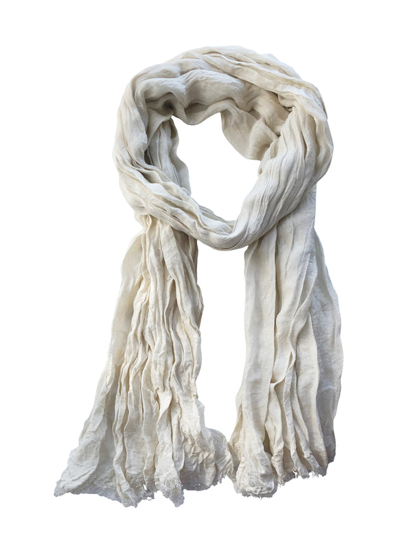 Froisse Silk Solid Shawl - denis-colomb-lifestyle