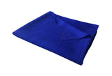 Georgia Silk Large Shawl 100 Silk Royal Blue Fold