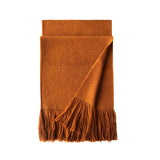 Gobi Solid Scarf 100 Camel Hair Tibetan Orange Fold