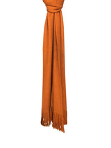 Gobi Solid Scarf 100 Camel Hair Tibetan Orange Hang