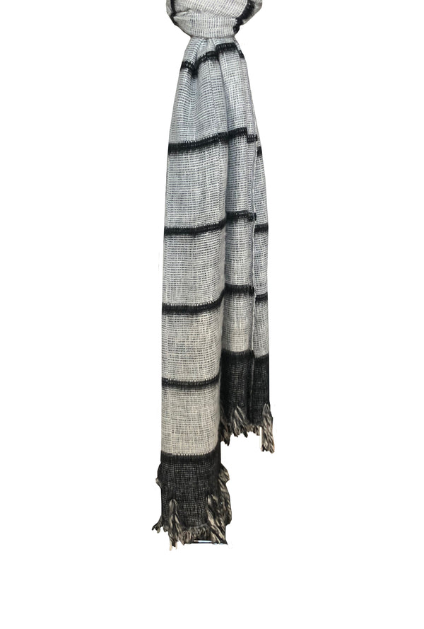 Dolpo Fine Line with Fringe Shawl - denis-colomb-lifestyle