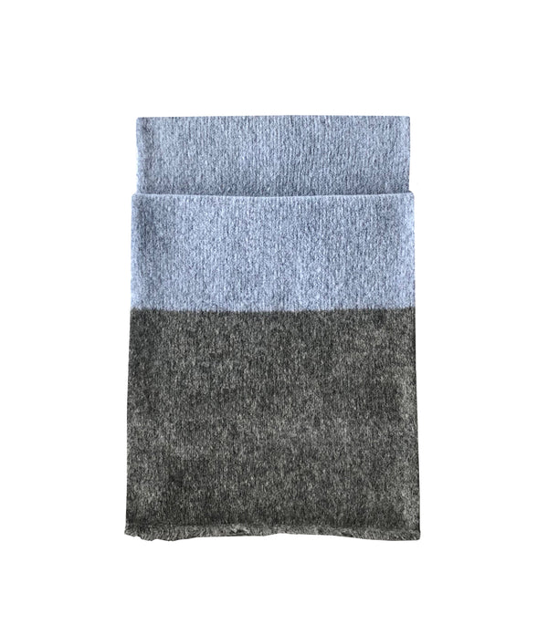 Denis Colomb Lifestyle - Olive and Grey Cashmere Scarf