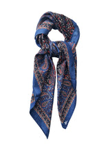 Kolkota Paisley Foulard Orient Blue Heather Par Pink Black Loose Tie