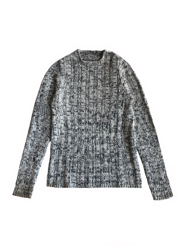 Loose Open-weave Crewneck Sweater - denis-colomb-lifestyle