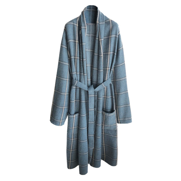 Denis Colomb Lifestyle - Bleu Gris Charcoal Aluminum Grey Nomad Coat