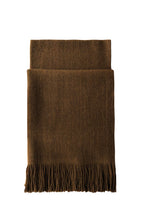 MONGOLIA NUBBY STOLE 6 PLY GOLDEN BROWN Fold Front