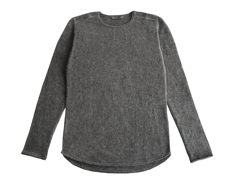Charcoal Crewneck Sweater 100% Cashmere - Denis Colomb Lifestyle