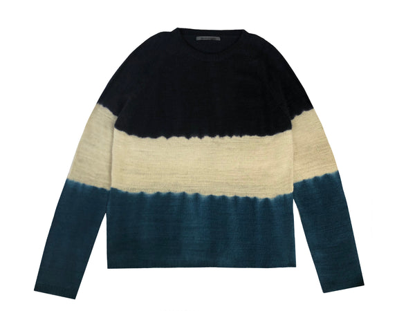 Men's Hand Knit Tie Dye Crewneck Sweater - denis-colomb-lifestyle