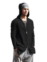 Mens Zip Hoodie   Black   On Model