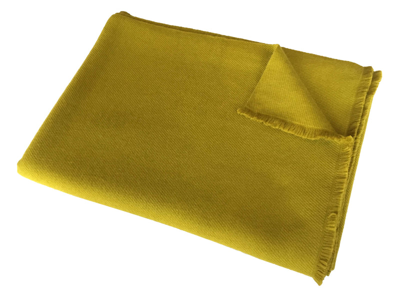 Denis Colomb Lifestyle - Lime Green Cashmere Mongolian Throw