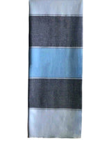 Monsoon Stripe Throw 50 Cashmere 50 Silk Blue Paris Mid Blue Powder Blue Hung