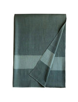 Monsoon Stripe Throw 50 Cashmere 50 Silk Dark Teal Tourmaline Fold