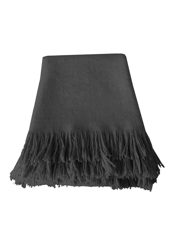 Denis Colomb Lifestyle - Charcoal Cashmere Natural Hand spun Blanket