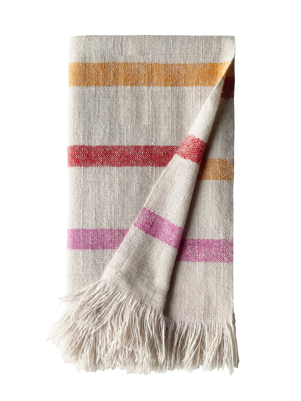 Denis-Colomb-Lifestyle - Cashmere-Perou-Multi-Colored-Stripes