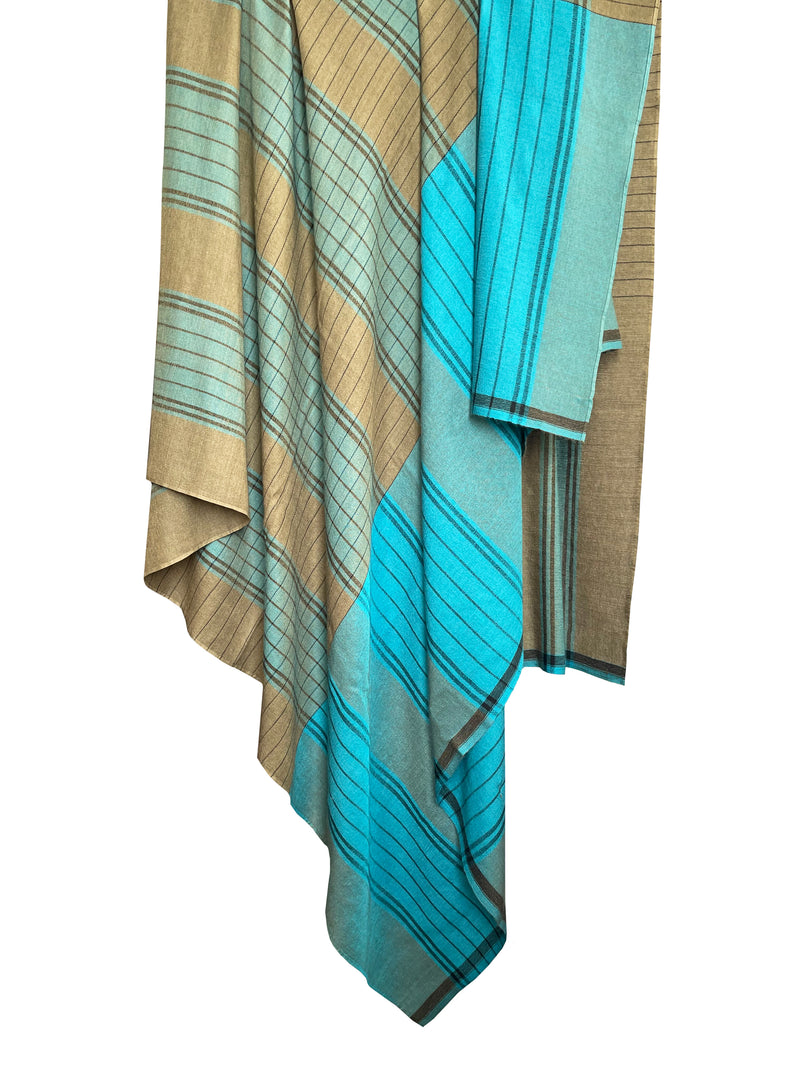 Denis-Colomb-Lifestyle - Cashmere-Silk-Safari-Plaid-Throw