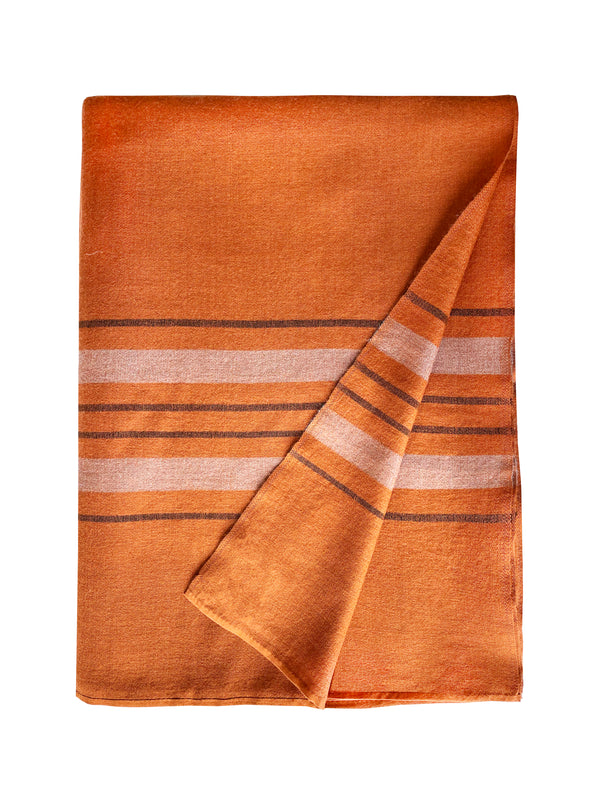 Denis-Colomb-Lifestyle - Cashmere-Silk-Siesta-Two-Stripes-Throw