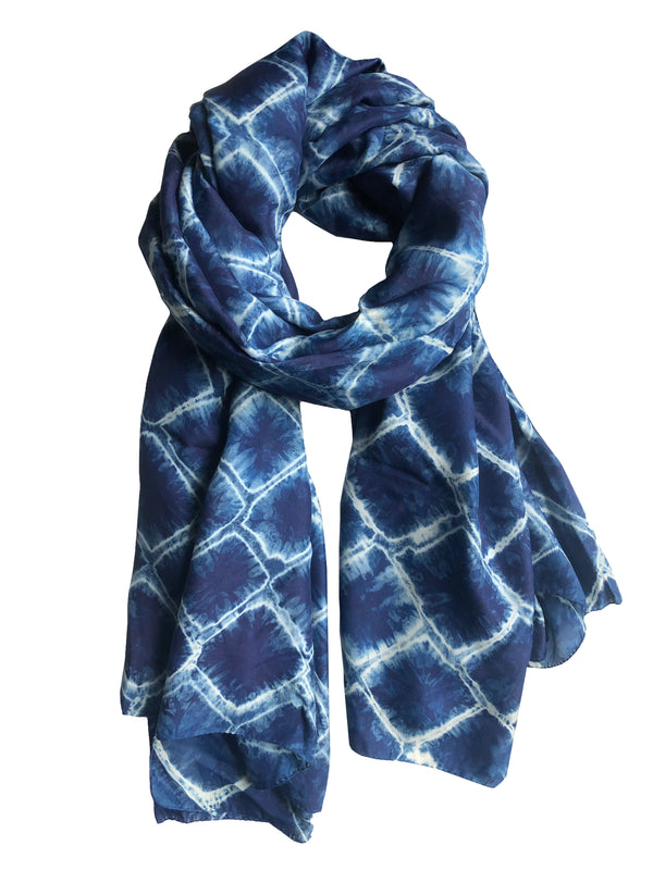 Shibori Large Shawl - denis-colomb-lifestyle