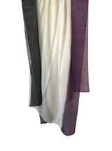 Sliky Cloud Dip Dye Shawl 80 Cashmere 20 Silk Purple Plumeria Light Grey Black Hung
