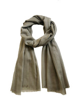 Summer Lung Ta Stole 100 Cashmere Pale Olive Loose Tie
