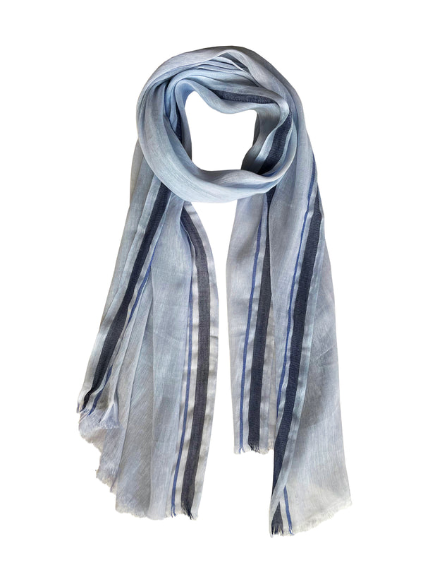Denis-Colomb-Lifestyle - Cashmere-Linen-Toosh-Linen-Stripes-Stole