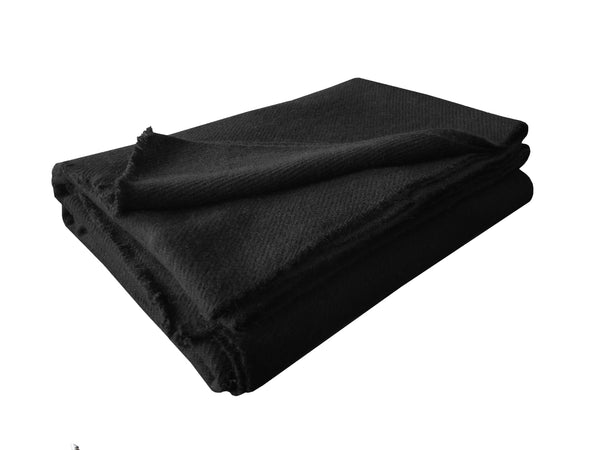 Denis Colomb Lifestyle - Black Cashmere Travel Blanket