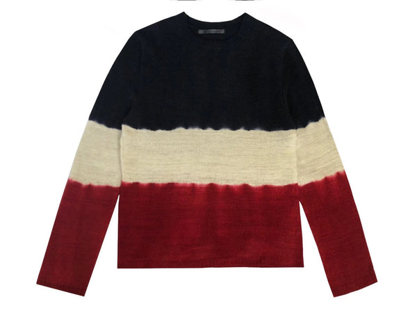 Women's Hand Knit Tie Dye Crewneck Sweater - denis-colomb-lifestyle