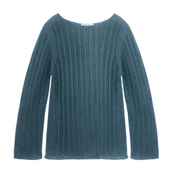 Open Weave Boat Neck Sweater - denis-colomb-lifestyle