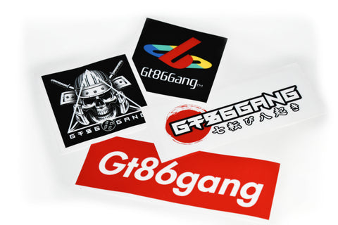 4-Pack Decal Bundle - GT86GANG