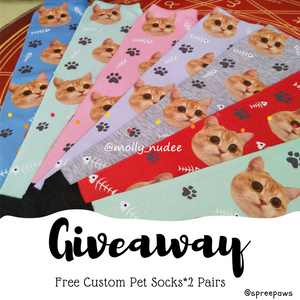 Free Custom Pet Socks Giveaway