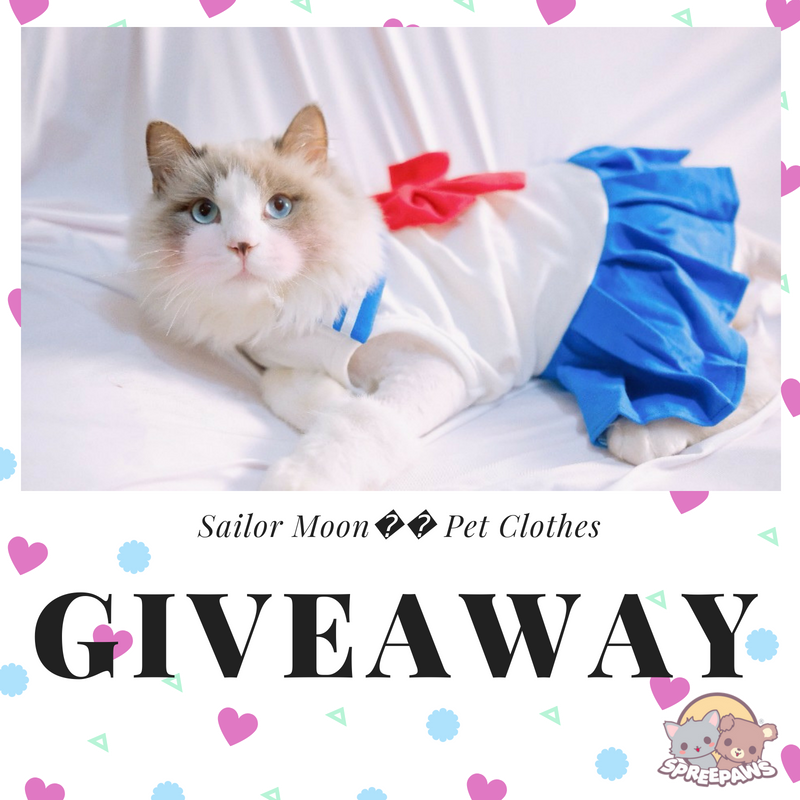 Free Giveaway For Sailor Moon Pet Clothes