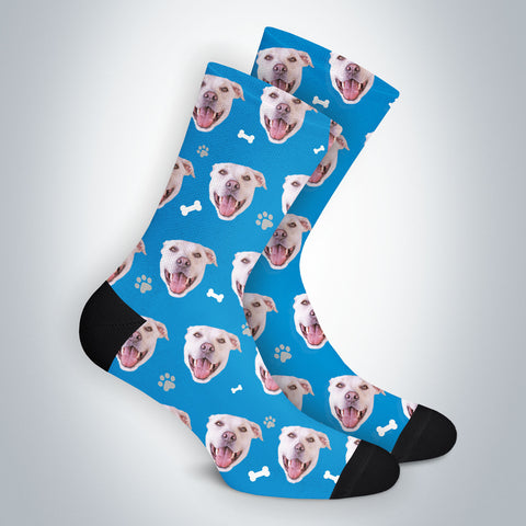 Custom Dog Bone Dog Socks