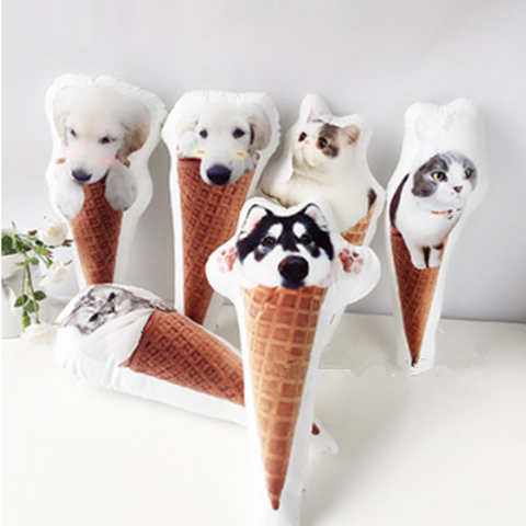 Custom Photo Pet Cone Pillow W12810