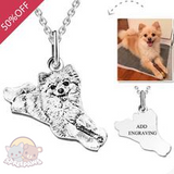Customized Pet Photo Necklace Sterling Silver