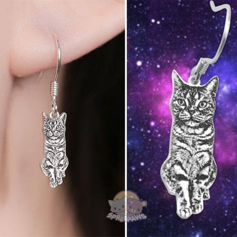 Customized Pet Photo Earrings Sterling Silver
