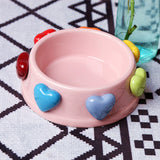 Sweet Heart Cat/Dog Ceramic Bowl W12892
