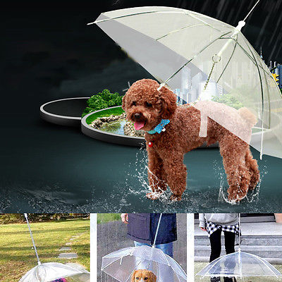 Built-in Leash Puppy Umbrella Cat Raincoat