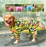 Large Dog Camouflage Raincoat Pet Jumpsuit Dog Raincoat Clothes Appreal for Labrador German Shepherd Golden Retreiver Samoyed