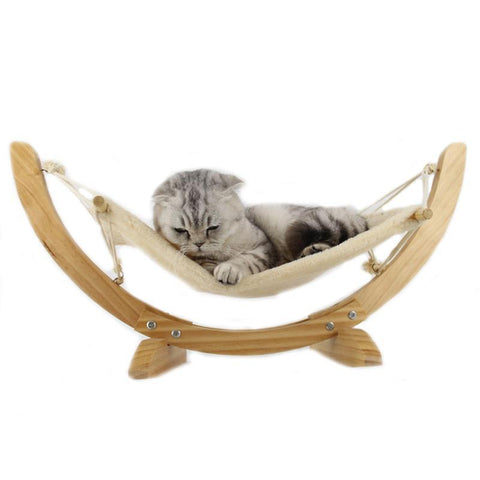 Cat Wood Hammock Bed