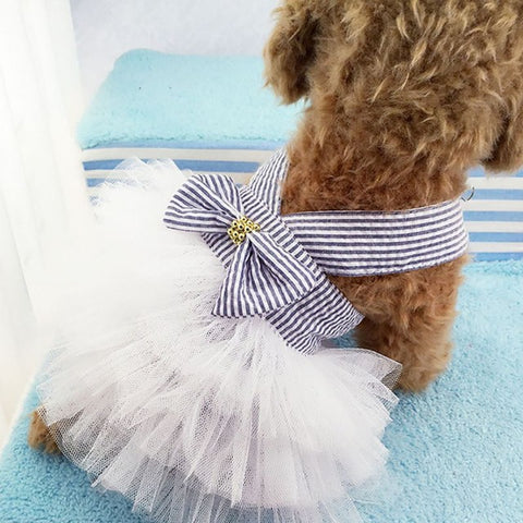 Pet Summer Dogs Harness Skirt Clothes Small Dog Dress