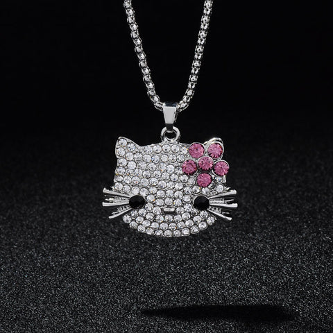 Cat Long Pendants Necklaces