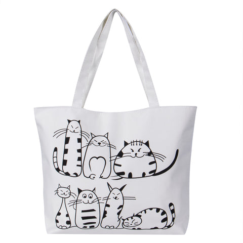 cartoon Cat Printed Shoulder bag