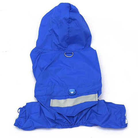 Solid Waterproof Hooded Dog Apparel