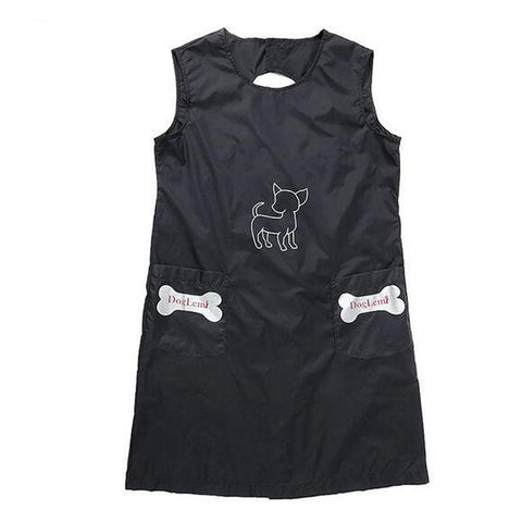 Cat Black Beautician Smock Clothes