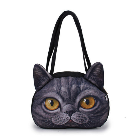 Happy Cat Round Handbag