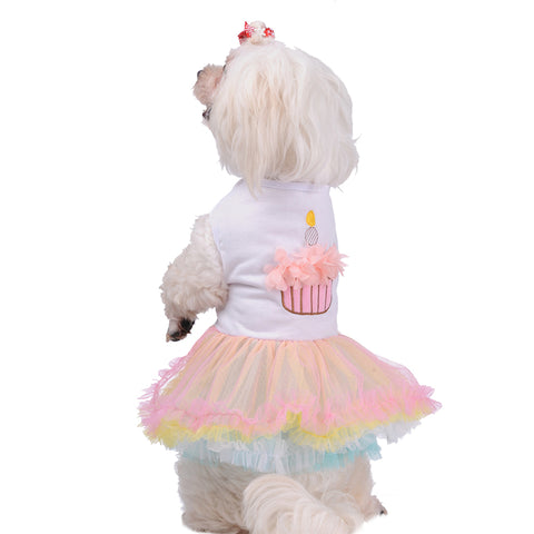 Colorful Sweet Puppy Dog Princess Skirt