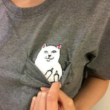 Cat Top Tees O-Neck Short Sleeve Tshirt