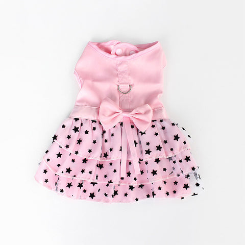 Black Star Pattern Summer Dog Dress