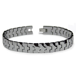 Classic High Polish Tungsten Carbide Link Bracelet - Tioneer